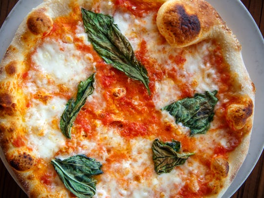 Margherita pizza from Red Rossa Pizza in Clive.