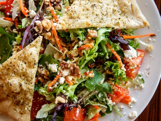 Walnut gorgonzola salad from Red Rossa Pizza in Clive