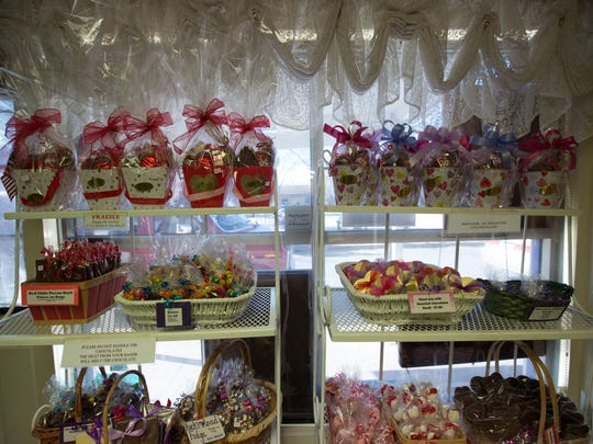 The Chocolate Lady Shop in Mesilla offers chocolate covered strawberries along with other valentines day candies.