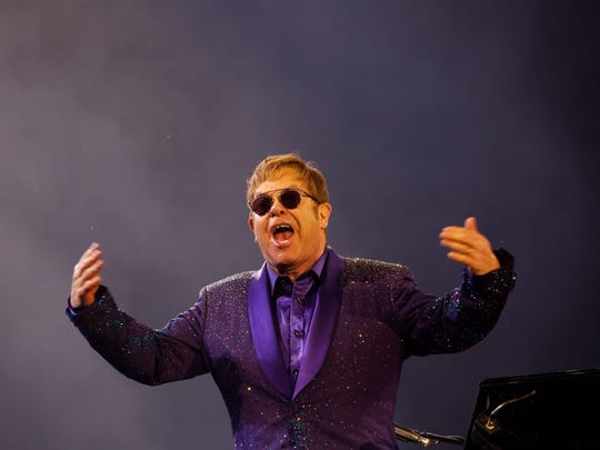 Sir Elton John performing in Tel Aviv on May 26, 2016.