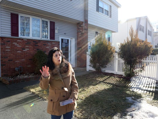 Ann Marie Geraci talks about the buyout she took from New York Rising for her home in the Squires Gate neighborhood in Suffern, Jan. 24, 2018 after her home sustained flood damage in Irene, Sandy and Lee.