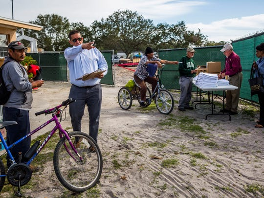 The annual homeless count by The Hunger & Homeless Coalition of Collier County takes place at Guadalupe Social Services in Immokalee on Thursday, Jan. 25, 2018. Flu shots, blood pressure checks and hygiene kits were available.