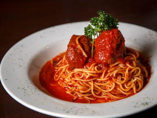 Spaghetti and meatballs from Mama Lacona's Thursday,