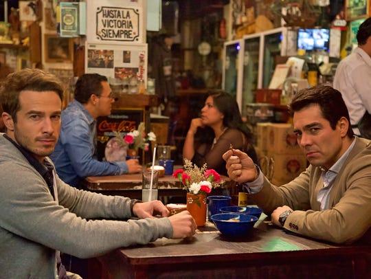 "Ryan Carnes (left) and Omar Chaparro star in ""La Boda"