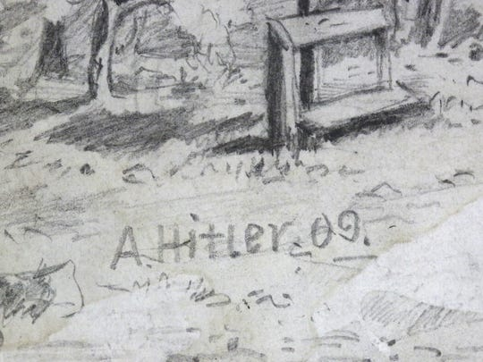 A detail shot from one of the sketches attributed to