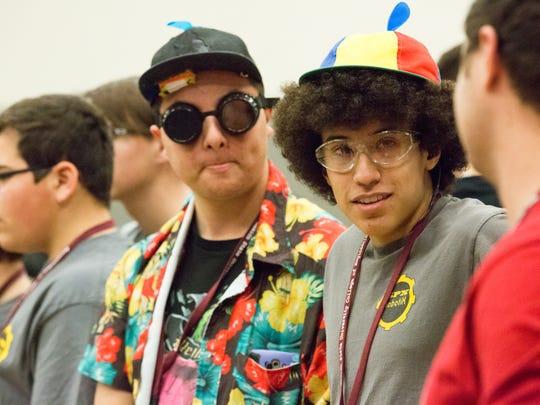 Ely Teran, 17, right, and Tristian Ruiz, 17, left,