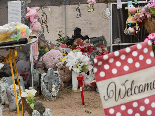 The grave of Baby Brianna on what would have been her
