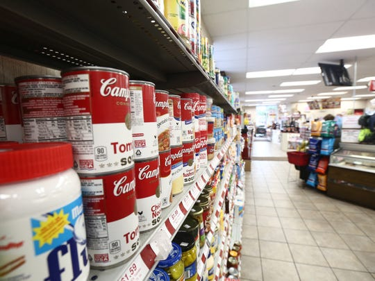 Food items for sale at Stewarts Shops in Hyde Park