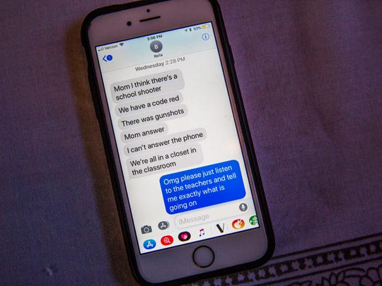 Text messages between senior Isabella Cohen and her