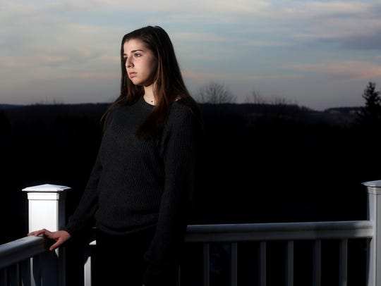 Angela McDevitt, 17, a student at Arlington High School,