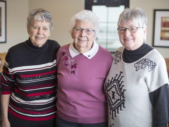 Judy (Pedersen) Eisenbacher, Eileen (Emmick) Harkema,