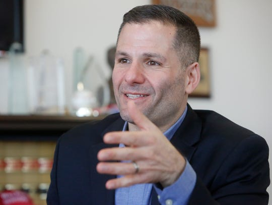 Dutchess County Executive Marc Molinaro poses in his office in Poughkeepsie on Feb. 28.