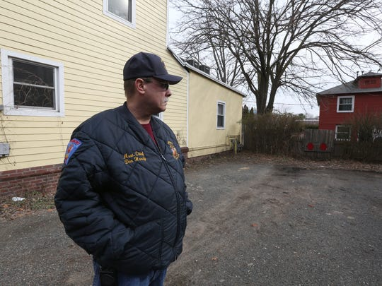 Piermont Fire Dept. Chief Don Hardy at the site of a fire that he responded to 40 years ago that killed three children on Piermont Ave. March 1, 2018.