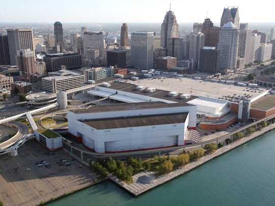 A 2012 photo shows an aerial view of Joe Louis Arena