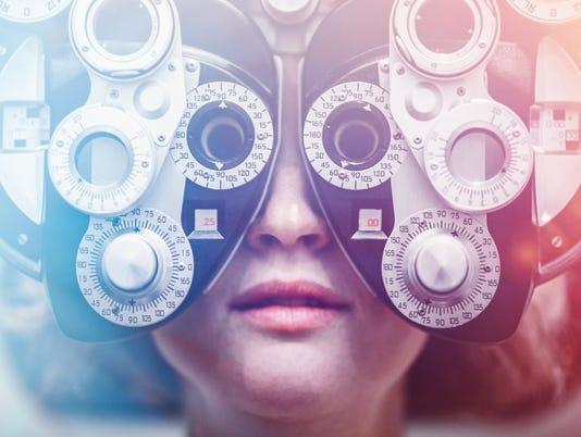 Women Receiving Eye Exam