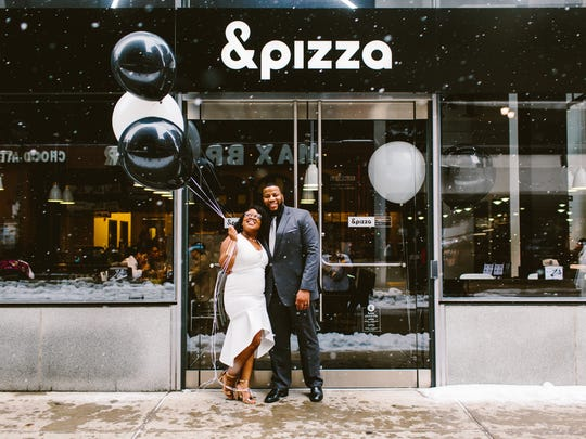 Four &pizza shops are transformed into wedding chapels on March 14.