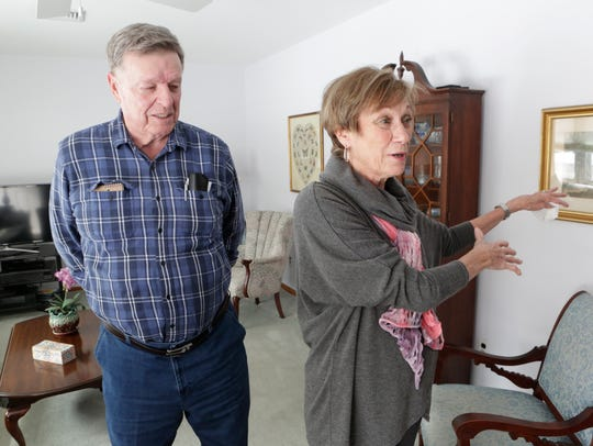 Diane and John Tangen of Buchanan at their home March 8