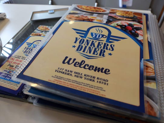 The menu at Yonkers Diner March 12, 2018. The restaurant