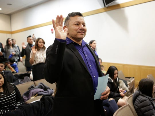 Luis Torres of Port Chester is naturalized as a United