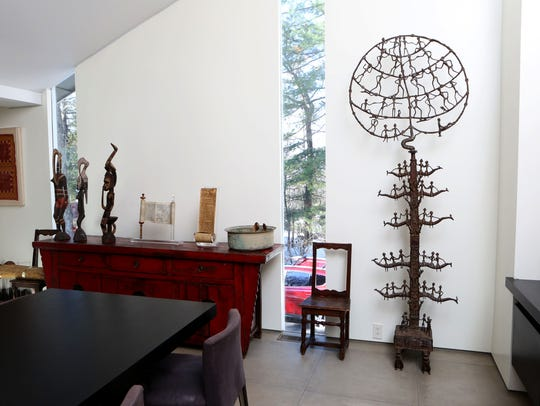 The tree of life from India displayed at the home of