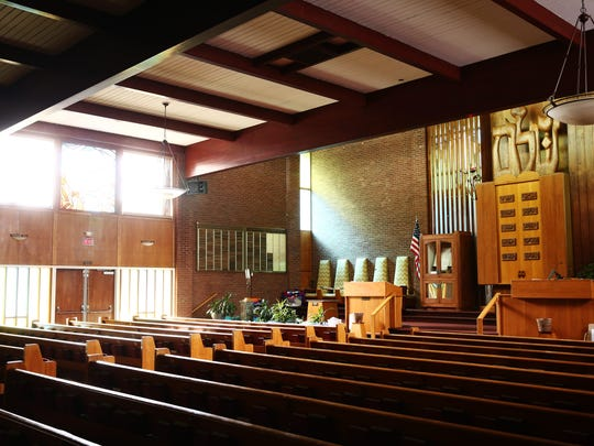 The sanctuary at Temple Beth El in the Town of Poughkeepsie on Feb. 15, 2018.