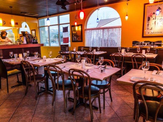 Harvest gold makes the dining room glow at Z Bistro, a French-inspired mom-and-pop in Carson City.