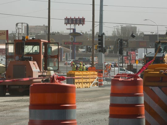 Construction continues on the North Main, Three Crosses