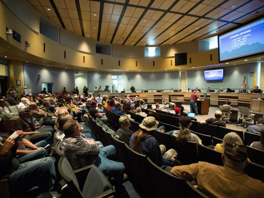 The Las Cruces City Council Chambers were filled with
