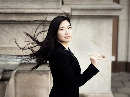"Eun Sun Kim conducts the Milwaukee Symphony Orchestra and Chorus in Brahms' ""A German Requiem"" March 29 and 30."