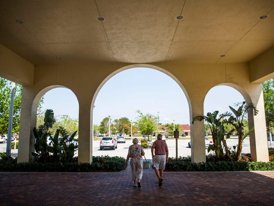 Voters exit the polls during the 2018 Bonita Springs