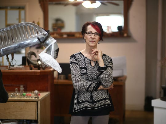 Suprina Troche at her studio in the City of Poughkeepsie