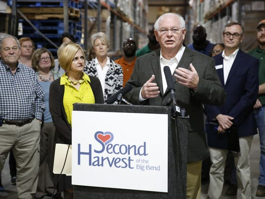 Sen. Bill Montford, D-Tallahassee, speaks at a press