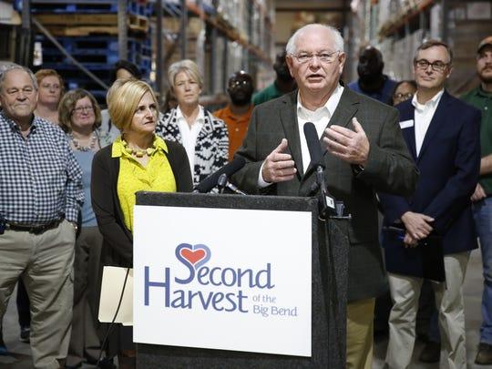 Sen. Bill Montford, D-Tallahassee, speaks at a press