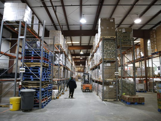 The Second Harvest of the Big Bend warehouse, pictured