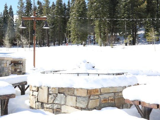 The scene after the storm at Northstar California Resort on Friday, March 23, 2018.
