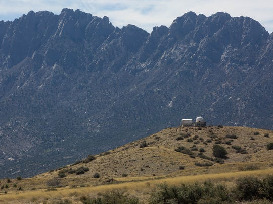 The view of the Organ Mountains from the Aguirre Spring turnoff. Friday March 23, 2018.