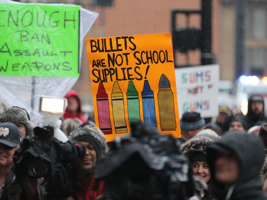 Hundreds take part in the March For Our Lives rally