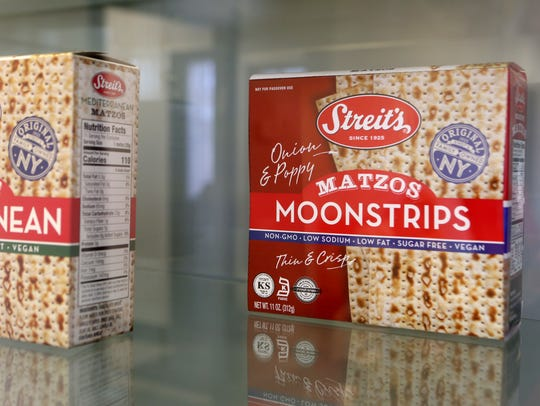 Moonstrips, a poppy and onion flavored matzo that was