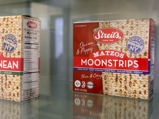 Moonstrips, a poppy and onion flavored matzo. Rockland County-based Streit's says there will plenty of matzo in stores for Passover this year.