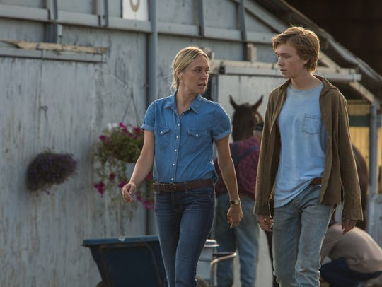"Bonnie (Chloë Sevigny, left) reminds Charley (Charlie Plummer) that his favorite racehorse is ""not a pet."""