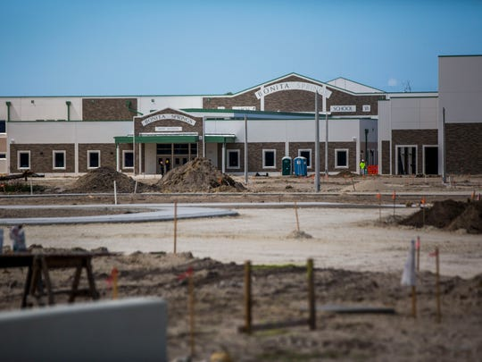 Construction of the new Bonita Springs High School