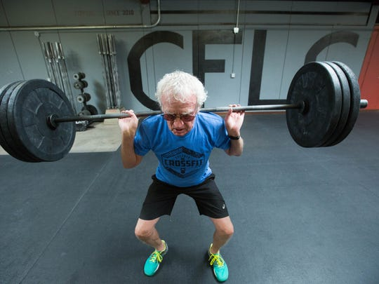 John LeRoy, 81, lifts weights at CrossFit Las Cruces, a gym he attends four to five days a week.
