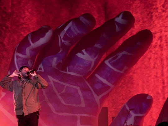 The Weeknd performs on the Coachella Stage during the