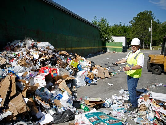 Material arrives at the Marpan recycling facility in