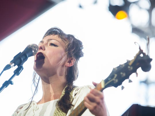 Angel Olsen performs on the Gobi stage at the 2018