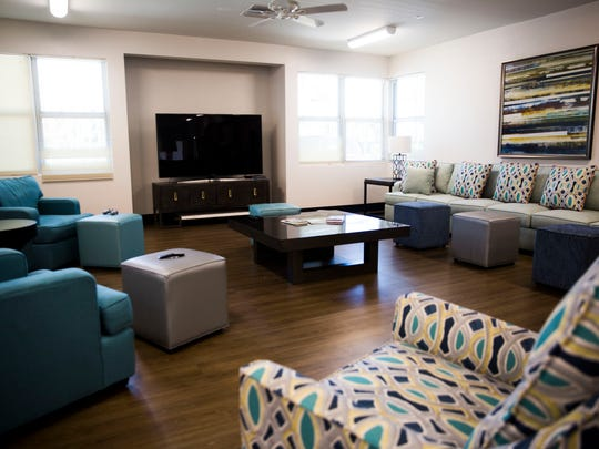 The common room on Tuesday, April 17, 2018, at Rob's Cottage, the transitional living group home for homeless teens, at Youth Haven in Naples.