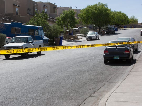 Las Cruces Police still have Athenian and Foothills Drive closed to traffic as they investigate a Monday night shooting of a 17-year-old, Tuesday April 23, 2018.