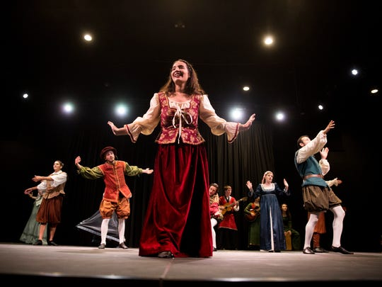 Theater students at Ave Maria University, led by director