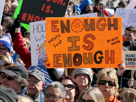 Several thousand people attended a March for Our Lives rally in front of the Rockland County Courthouse in New City March 24, 2018.