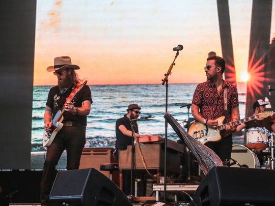 Apr 28, 2018; Indio, CA, USA; Brothers Osborne perform
